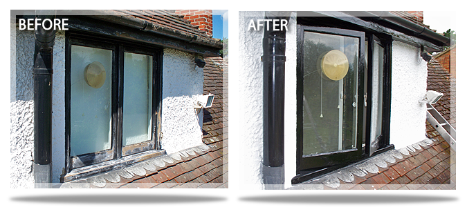 before and after, window
